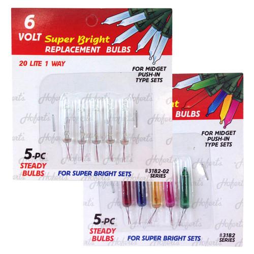 6 Volt Mini Replacement Bulbs