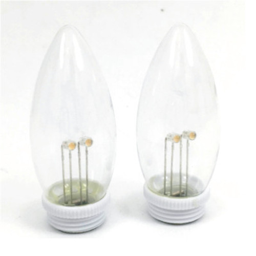 Super Bright, Dual Intensity Window Candle Replacement Bulbs - Pack of 2