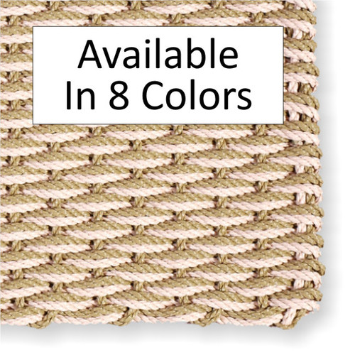 "Cape Cod Doormat Wave Pattern 20"" x 36"" Patio Size"