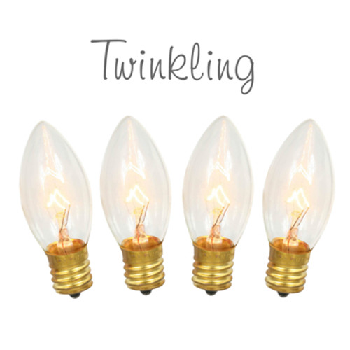 C9 TWINKLING Transparent Clear Replacement Bulbs
