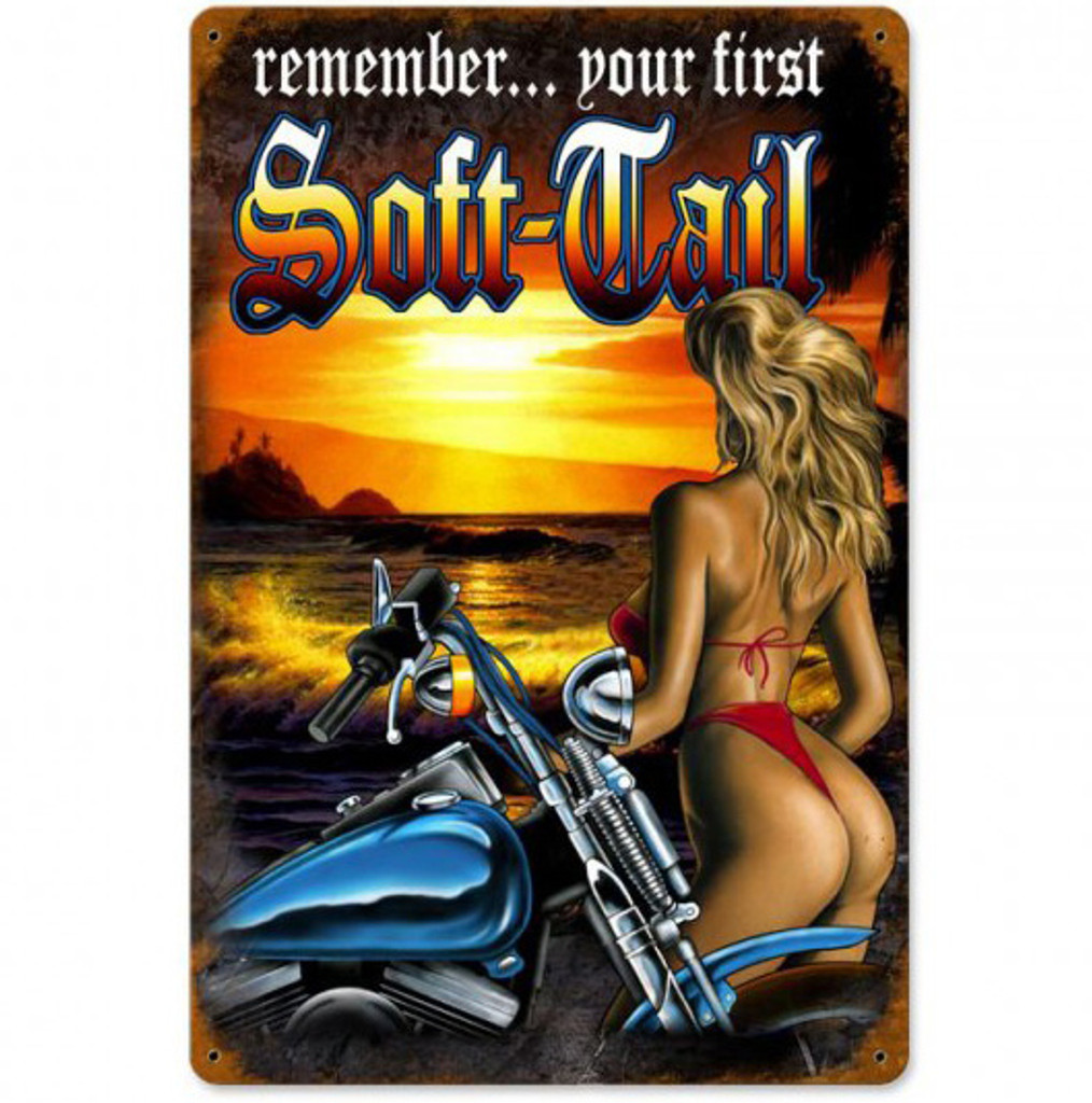 Soft-Tail Metal Sign 12 x 18 Inches