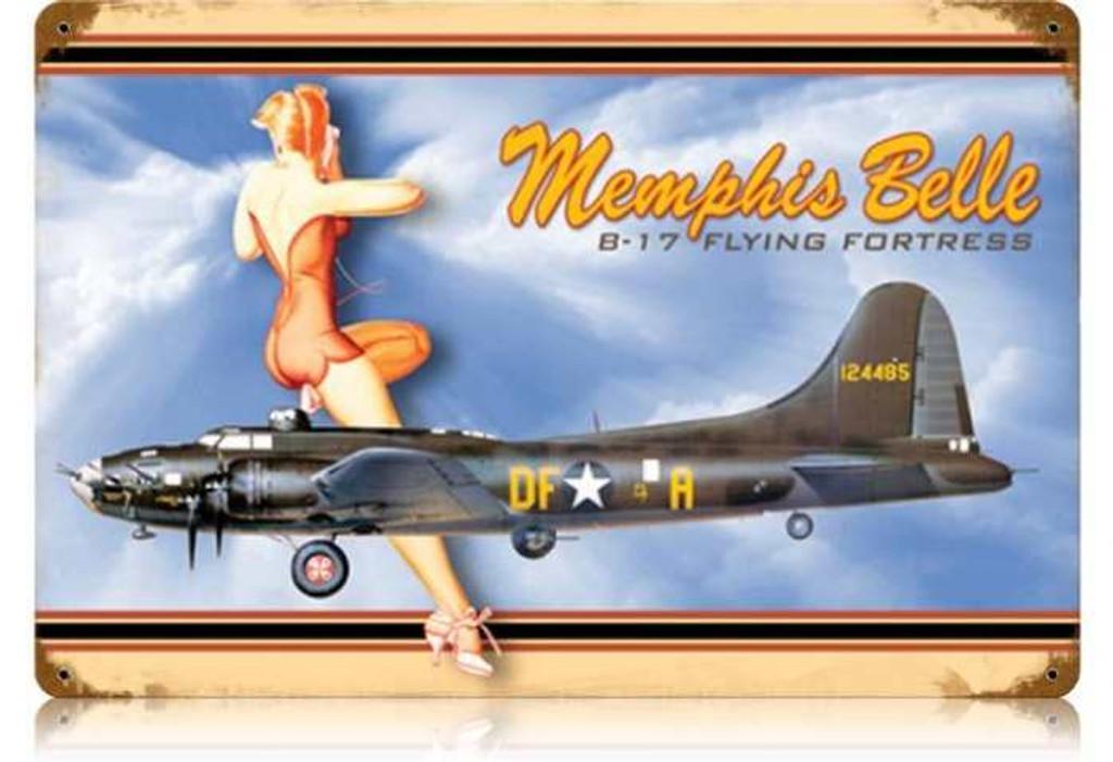Vintage-Retro Memphis Belle Metal-Tin Sign