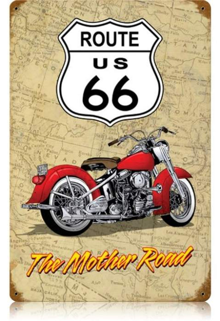 Vintage-Retro Mother Road Metal-Tin Sign