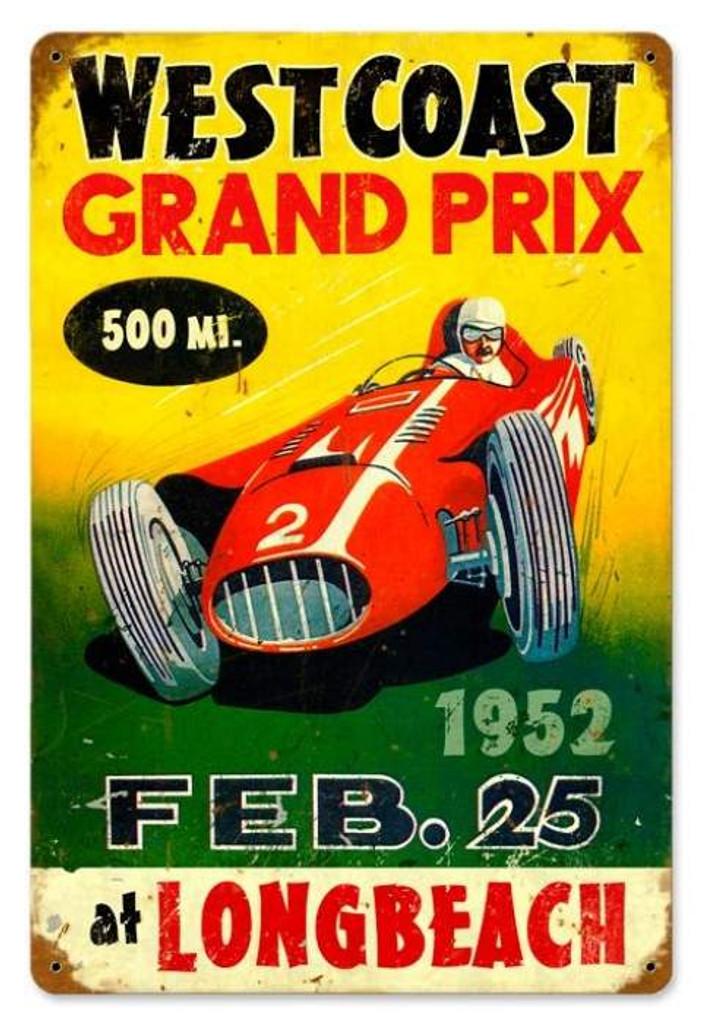 Vintage-Retro Grand Prix Metal-Tin Sign
