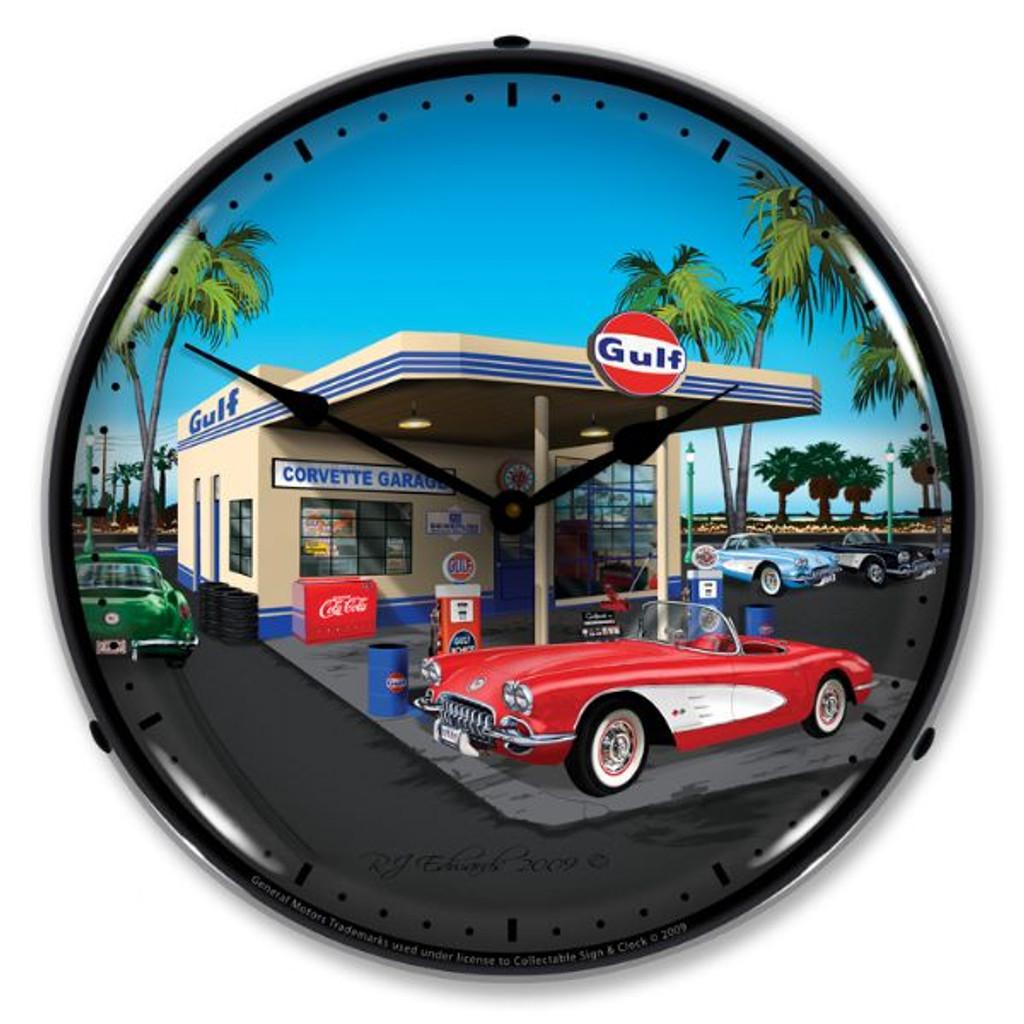 1959 Corvette Lighted Wall Clock