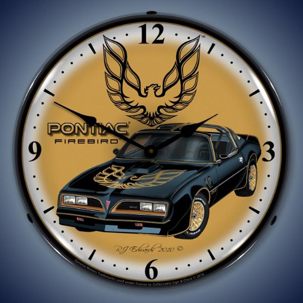 Vintage-Retro  1977 Pontiac Firebird Lighted Wall Clock