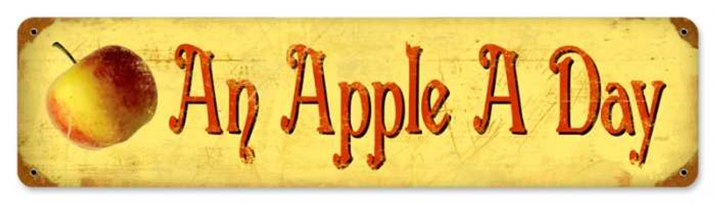 Retro Apple a Day Tin Sign