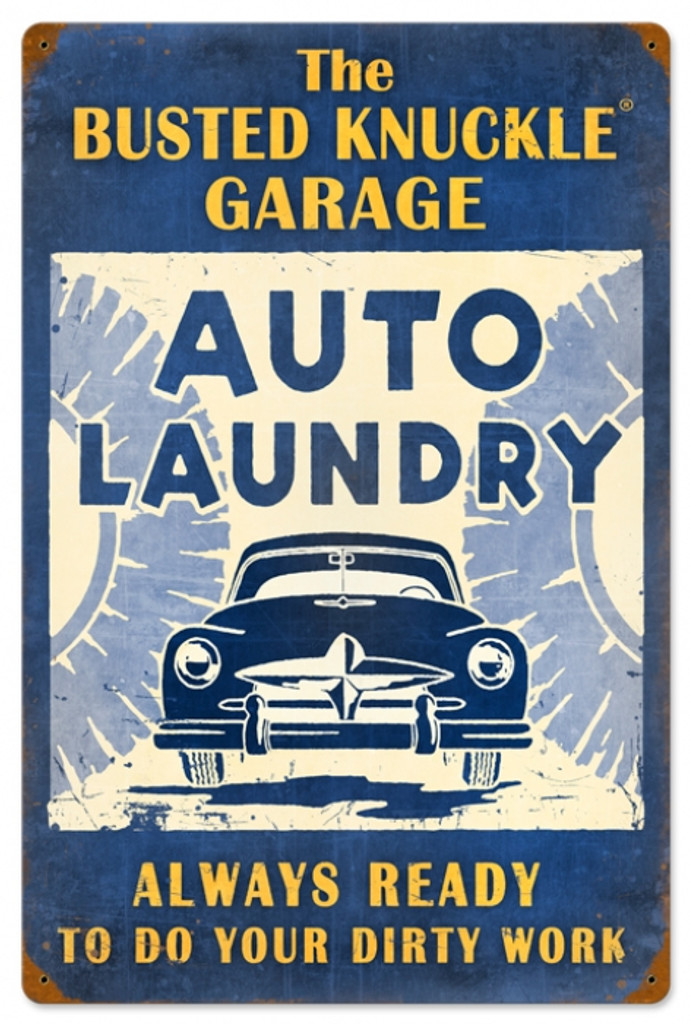 Vintage-Retro Auto Laundry Metal-Tin Sign