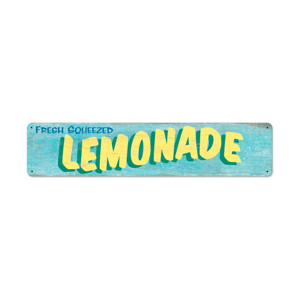 Retro Lemonade Metal Sign 20 x 5 Inches
