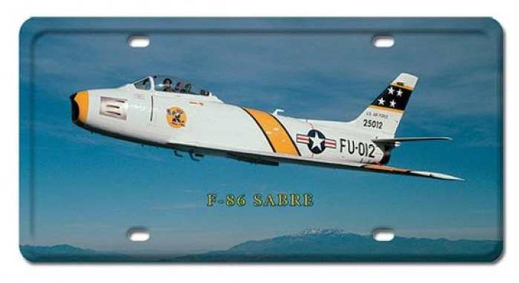Vintage-Retro F-86 Sabre License Plate