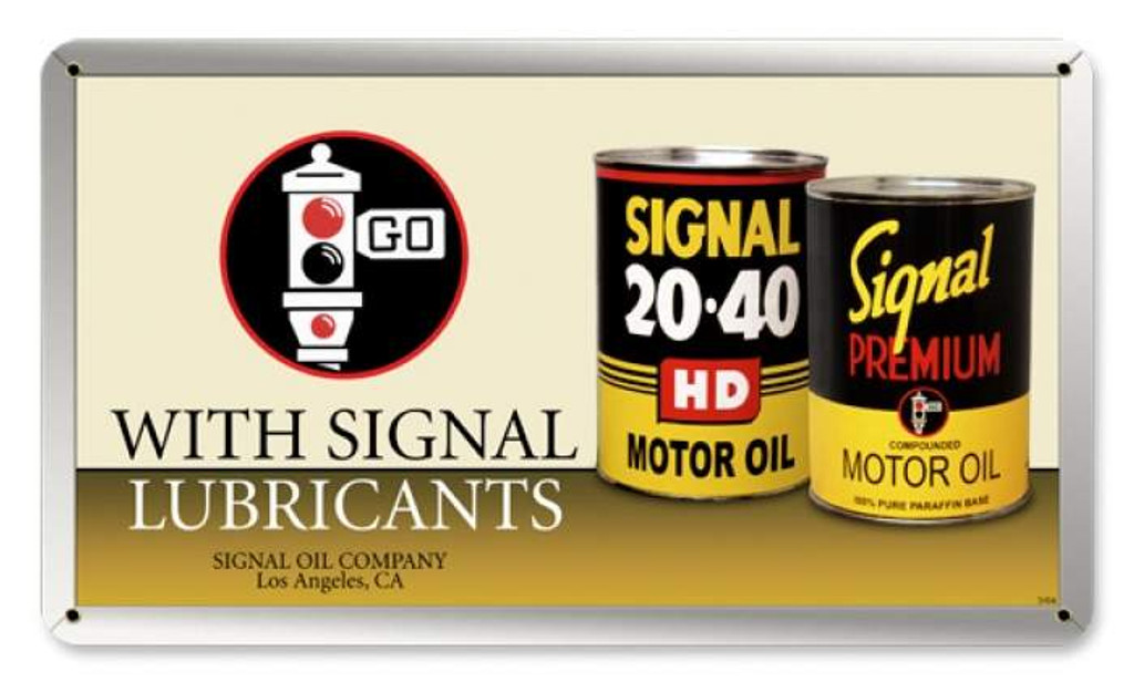 Vintage-Retro Signal Oil Can Metal-Tin Sign