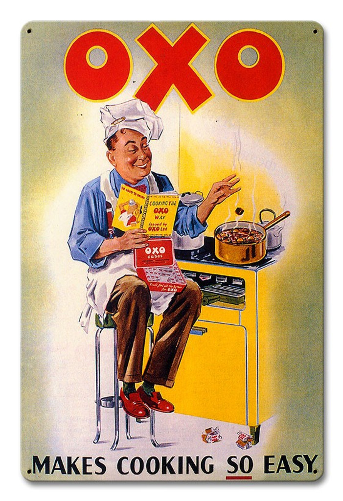OXO Makes Cooking So Easy Metal Sign 18 x 12 Inches