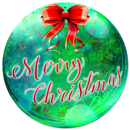 Merry Christmas Metal Sign 14 x 14 Inches