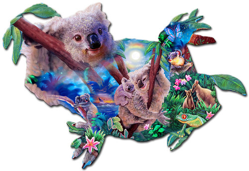 Koala Kingdom Metal Sign 24 x 16 Inches