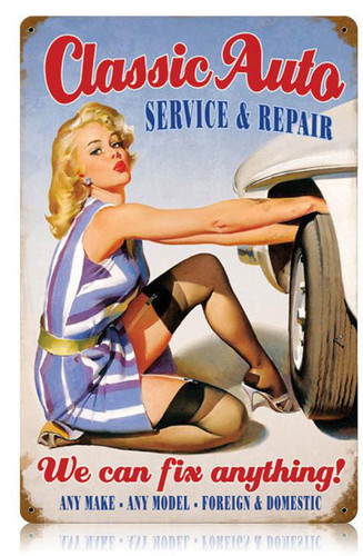 Classic Auto Metal Sign 12 x 18 Inches