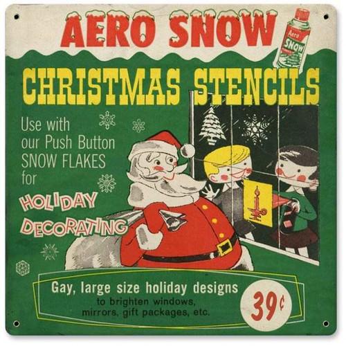 Vintage-Retro Stencils Metal-Tin Sign