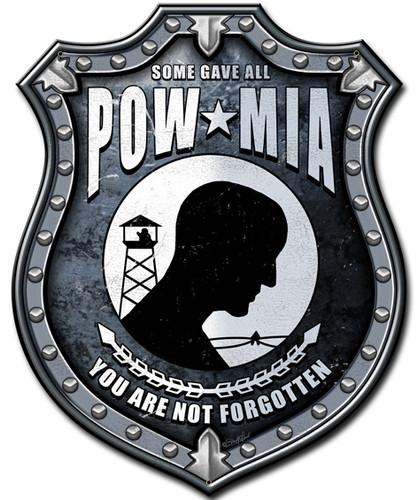 Pow Mia Metal Sign 14 x 18 Inches