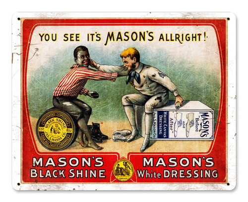 Masons Metal Sign 15 x 12 Inches