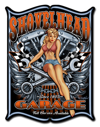 Shovelhead Metal Sign 14 x 19 Inches
