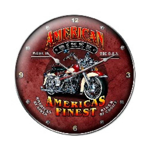 American Biker Metal Sign 14 x 14 Inches