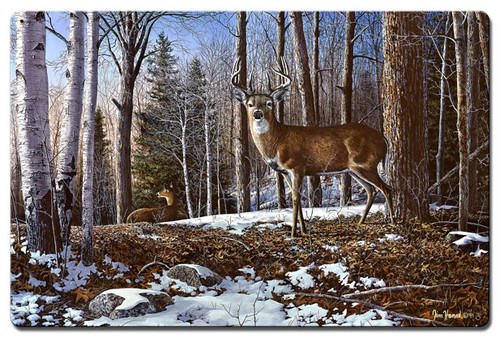 North Ridge Whitetails Metal Sign 16 x 24 Inches