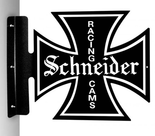 Vintage-Retro Schneider Racing Cams Iron Cross Metal-Tin Sign