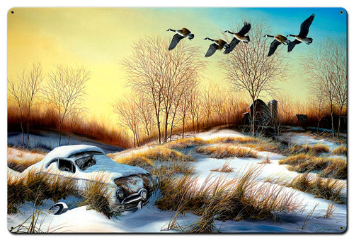 Winter Retreat 2 Metal Sign 24 x 36 Inches