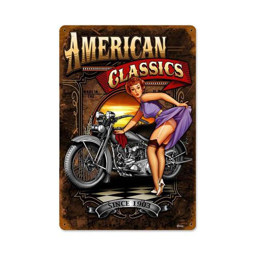 American Classics Metal Sign 12 x 18 Inches