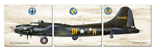 B-17 Flying Fortress Metal Sign 48 x 14 Inches