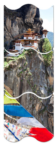 Tigers Nest Monastery Metal Sign 12 x 36 Inches