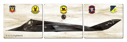 F-117a Nighthawk Metal Sign 48 x 14 Inches