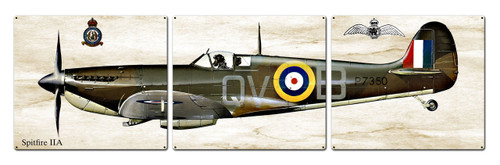 Spitfire Iia Metal Sign 48 x 14 Inches