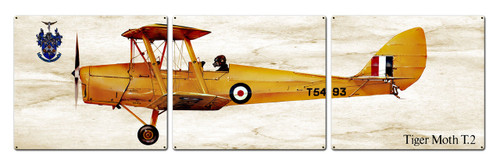 Tiger Moth T2 Metal Sign 48 x 14 Inches