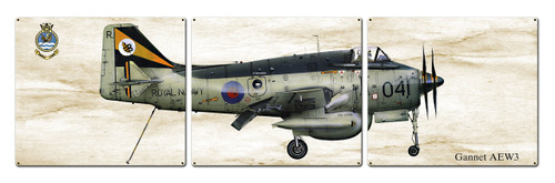 Gannet Aew3 Metal Sign 48 x 14 Inches