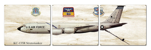 Kc-135r Stratotanker Metal Sign 48 x 14 Inches