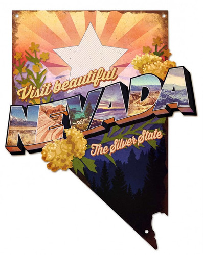 Visit Beautiful Nevada Metal Sign 16 x 20 Inches
