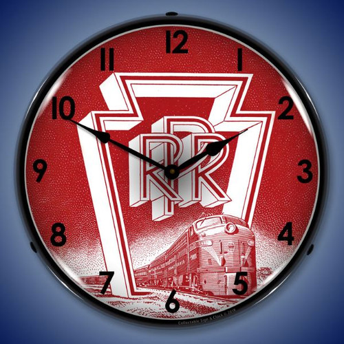 Pennsylvania Railroad Lighted Wall Clock 14 x 14 Inches