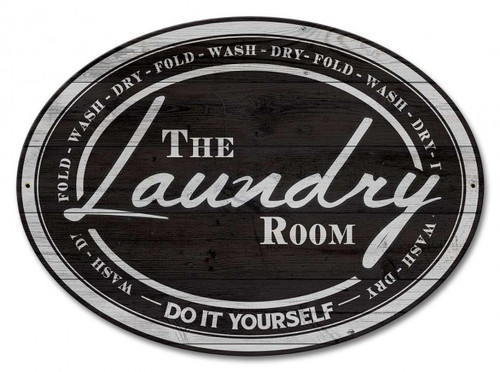 Laundry Room Metal Sign 18 x 13 Inches