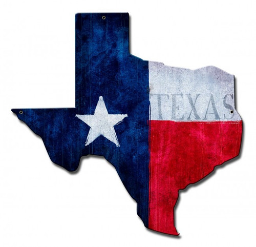Texas State Flag Metal Sign 15 x 15 Inches