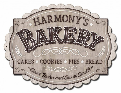 Bakery Metal Sign - Personalized 30 x 15 Inches