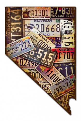 Nevada License Plates Metal Sign 14 x 22 Inches