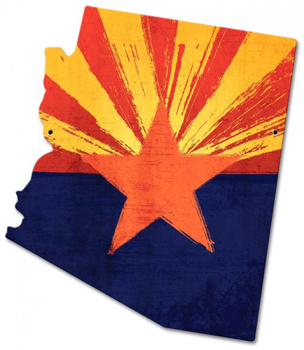 Arizona State Flag Metal Sign 18 x 20 Inches