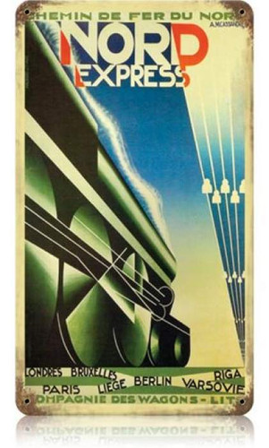 Vintage-Retro Nord Express Metal-Tin Sign