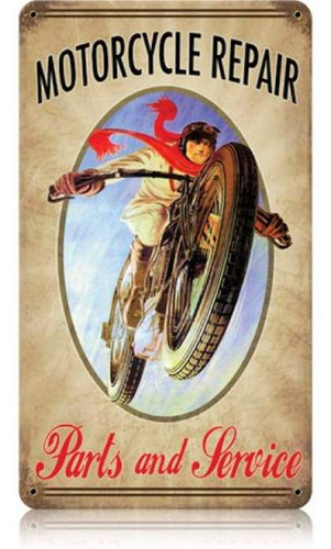 Vintage-Retro Motorcycle Metal-Tin Sign