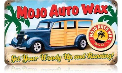 Vintage-Retro Mojo Woody Metal-Tin Sign