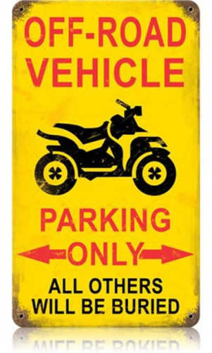 Vintage-Retro Off Road Parking Vintage-Retro Metal-Tin Sign