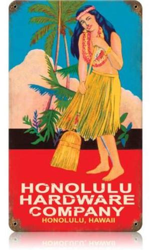 Vintage-Retro Honolulu Hardware Metal-Tin Sign