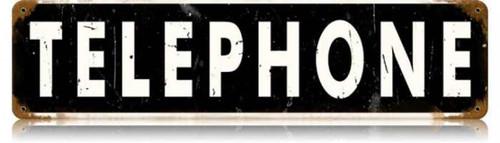 Vintage-Retro Telephone Metal-Tin Sign