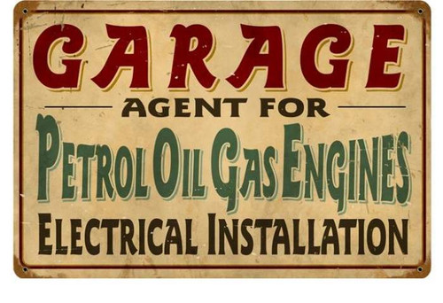 Vintage-Retro Petrol Garage Metal-Tin Sign