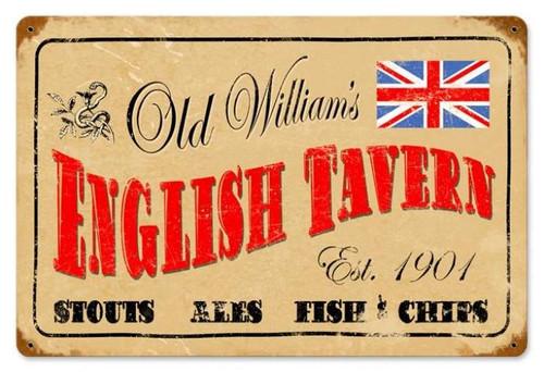 Vintage-Retro English Tavern Metal-Tin Sign